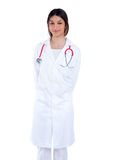 Asian indian confidence woman doctor smiling Stock Photo
