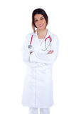 Asian indian confidence woman doctor smiling Royalty Free Stock Images