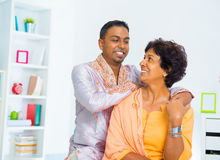 Asian Indian family Stock Images