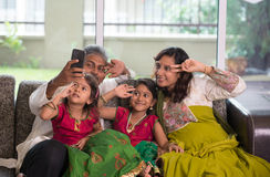 Asian Indian family selfie or self photograph Stock Photography
