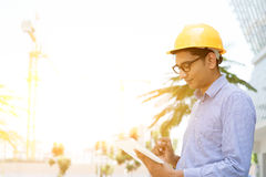 Asian Indian male contractor engineer Royalty Free Stock Images