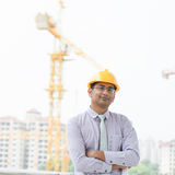 Asian Indian male contractor Stock Photo