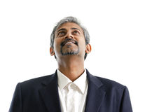 Asian Indian male looking up Stock Photo