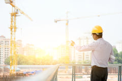 Asian Indian male site contractor engineer Royalty Free Stock Photo