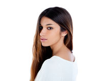 Asian indian profile girl brunette portrait Stock Photography