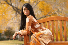 Asian Indonesian Girl Royalty Free Stock Photo