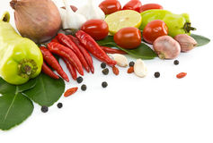 Asian ingredients food. Asian hot and spicy ingredients food Stock Images