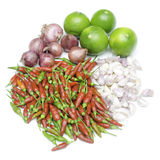 Asian ingredients food, Fresh herbs and spices Royalty Free Stock Photos