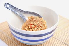 Asian instant soup Royalty Free Stock Image