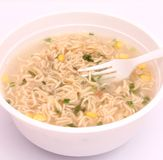 Asian instant soup Royalty Free Stock Photos