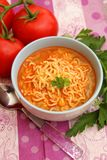 Asian instant soup with noodles. An asian instant soup with noodles and chili Royalty Free Stock Image