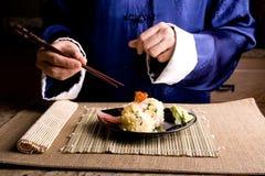 Asian japanese dinner. Asian traditional japanese food dinner stock photo