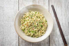 Asian Japanese dried ramen noodles  top view Royalty Free Stock Photo