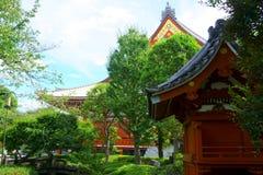Asian Japanese garden. Buddhist temple. Japan Tokyo stock photo