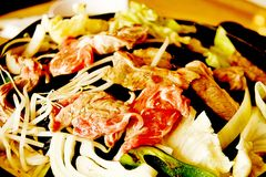 Asian-Style Pan-Fried Lamb Chops stock images