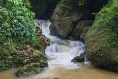 Waterfall in asian jungle royalty free stock images