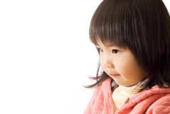 Asian kid. Portrait with thinking express and cute face royalty free stock images