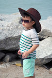 Asian Kid On Beach Portrait Royalty Free Stock Photo