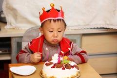 Asian kid at birthday  Royalty Free Stock Images