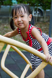 Asian Kid Climbing Royalty Free Stock Image