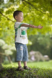 Asian kid open arms Stock Photos