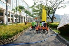 Asian kid, outdoor activity, Vietnamese preschool children Stock Photo