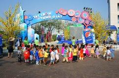 Asian kid, outdoor activity, Vietnamese preschool children Stock Photography