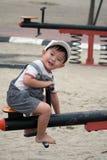 Asian Kid at Playground Stock Photos