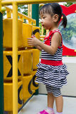 Asian Kid playing on Playground Royalty Free Stock Photo