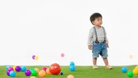 Asian kid at playroom stock image