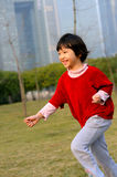 Asian kid run Royalty Free Stock Image
