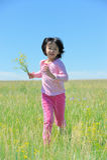 Asian kid running Royalty Free Stock Photo