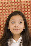 Asian Kid With Surprised Expression Stock Image