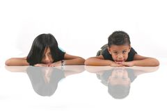 Asian kids royalty free stock photo