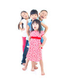 Asian kids. Portrait of happy asian kids royalty free stock image