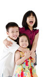 Asian kids. Portrait of lovely asian kids royalty free stock photography