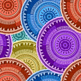 Asian kimono motif pattern Royalty Free Stock Photos