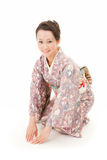 Asian kimono woman bow Stock Photo