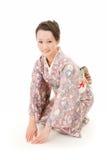Asian kimono woman bow Stock Photo