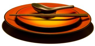 Asian kitchenware A. Gainst white background royalty free stock image