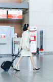 Asian Korean air flight attendant at International airport of In. Incheon, South Korea - February 15, 2016: Asian Korean female air flight attendant at Stock Photography