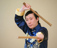 Asian kung-fu fighter stock photo