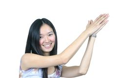 Asian lady royalty free stock images