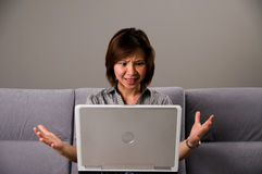 Asian Lady In Business Attire, Frustrated Royalty Free Stock Images