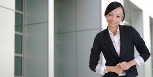 Asian lady with joy Royalty Free Stock Image