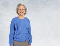 Asian Lady Portrait Concrete Wall Background Concept Stock Photos