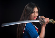 Free Asian Lady With Sword In Studio Stock Photo - 82851170