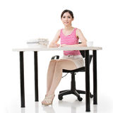Asian lady work Royalty Free Stock Image