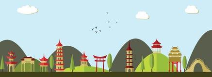Asian landscape Royalty Free Stock Photo