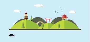 Asian landscape Stock Photo